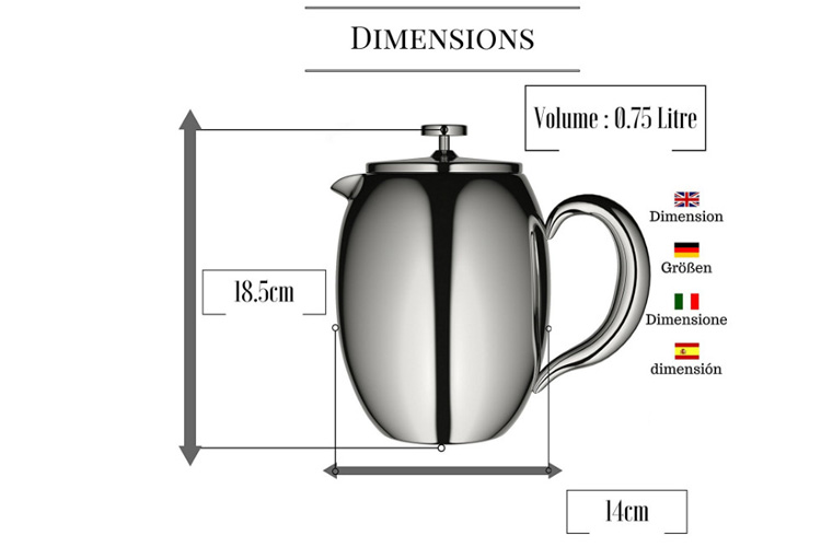 Veohome - Cafetière à piston 0.75 L test